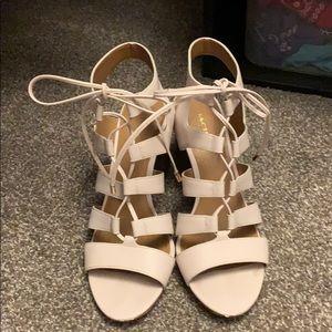 Coach Shoes - Coach lace up block heels. Larissa heels.